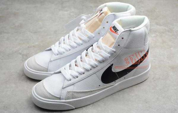 New Nike SB Zoom Blazer Mid PRM White Black Orange for Sale