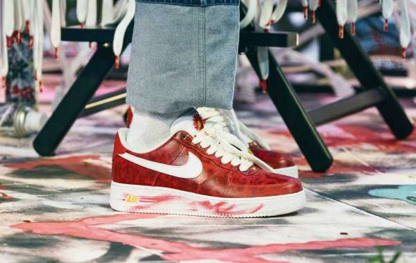 "New Release PEACEMINUSONE x Nike AF1 ""Para-Noise 2.0"" Red"