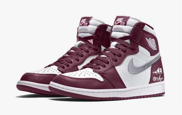 "Latest 2021 Air Jordan 1 High OG ""Bordeaux"" 555088-611 Basketball Shoes"