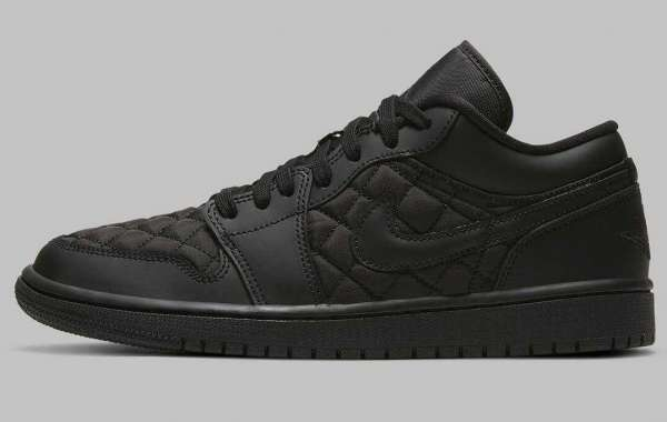 Quilted Air Jordan 1 Low Triple Black Is Available Now