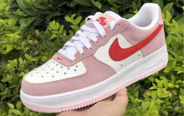"2021 Best Selling Nike Air Force 1 Low QS ""Love Letter"" DD3384-600"