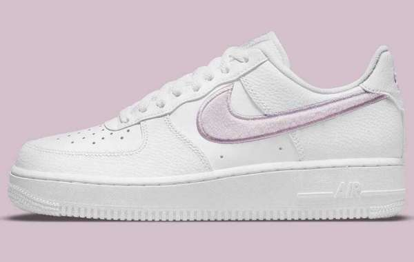 A New Nike Air Force 1 Releasing With Fuzzy Lilac Swooshes