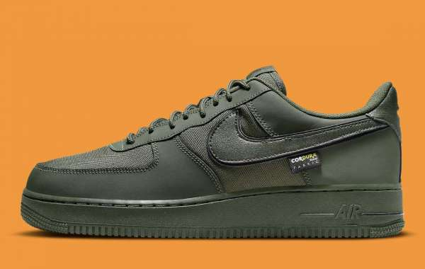"""Nike Air Force 1 Low Cordura """"Cargo Khaki"""" DO6701-300 will be released soon"""